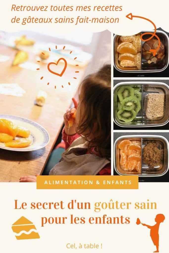 Le secret d'un goûter sain pour les enfants (... et toutes mes recettes de gâteaux sains fait-maison)
