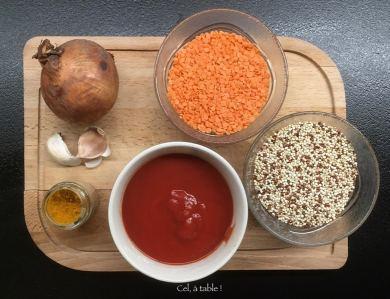 ingrédients pour une recette vide-placard