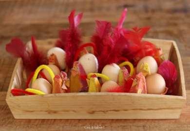 troupeau de poulettes en récup