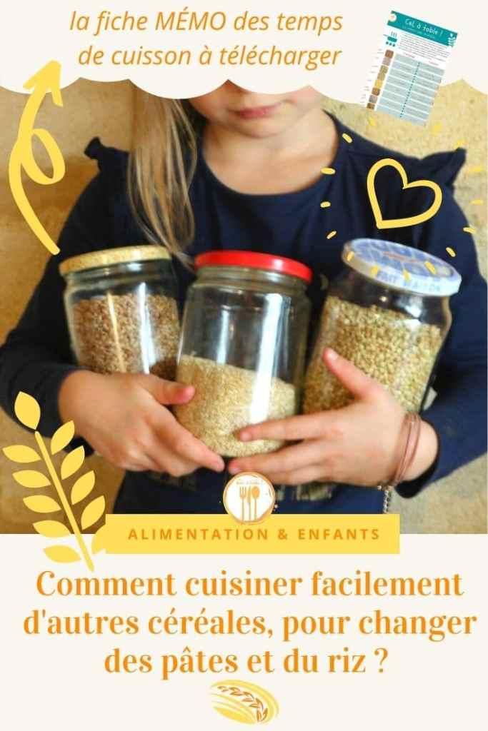 Comment cuisiner facilement d'autres céréales pour changer des pâtes et du riz ?