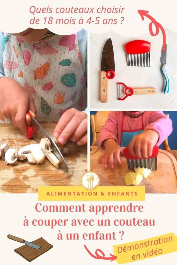 Comment apprendre à couper avec un couteau à un enfant ?