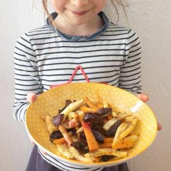 assiette de légumes rôtis