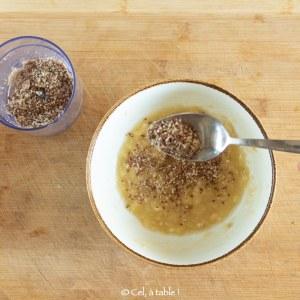 rajouter les graines et noix