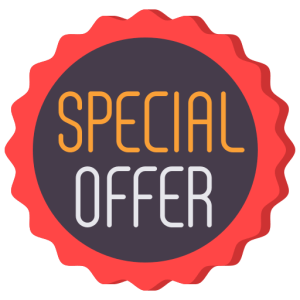 Icon of special offer associated with generating online leads.