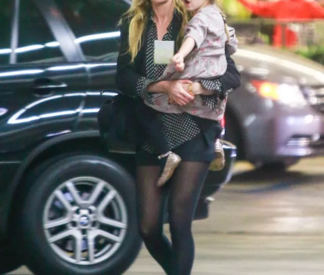 Kimberly Stewart At The Market With Her Daughter In La