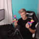 Tfue on his gaming set