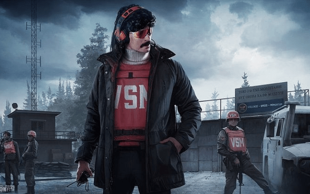 Dr. Disrespect himself in his gaming character