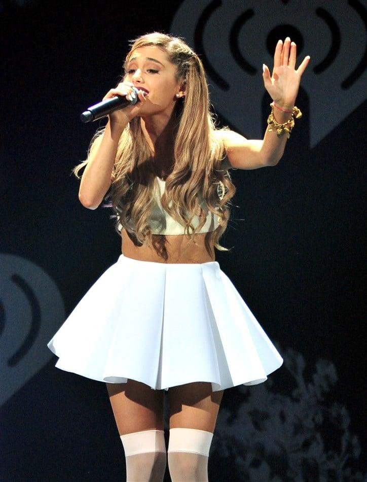 Ariana Grande Updress Lace Petticoat Pics