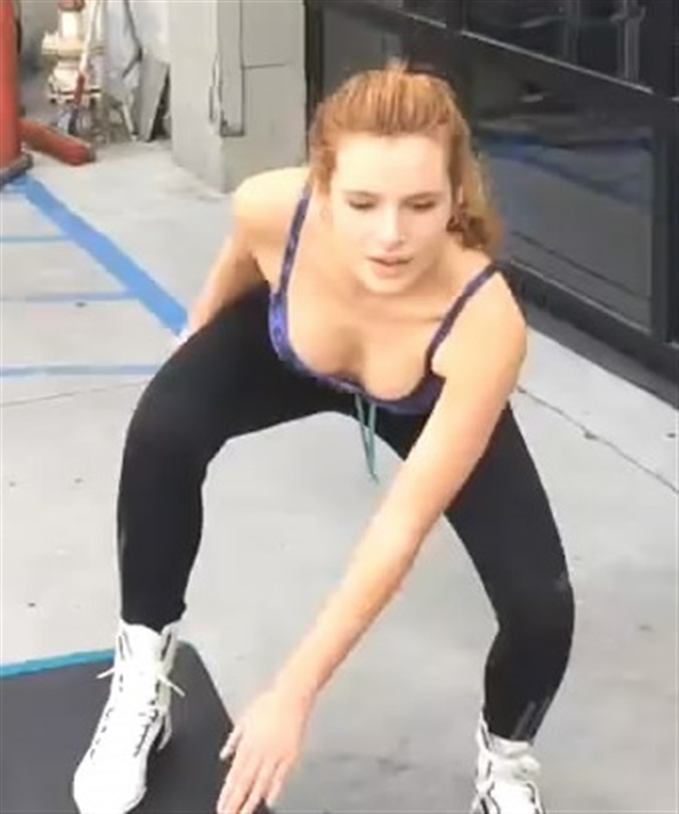 Bella Thorne Workout Video And Pics