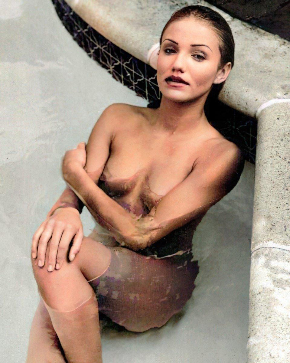 Cameron Diaz Nude Photo Shoot Colorized