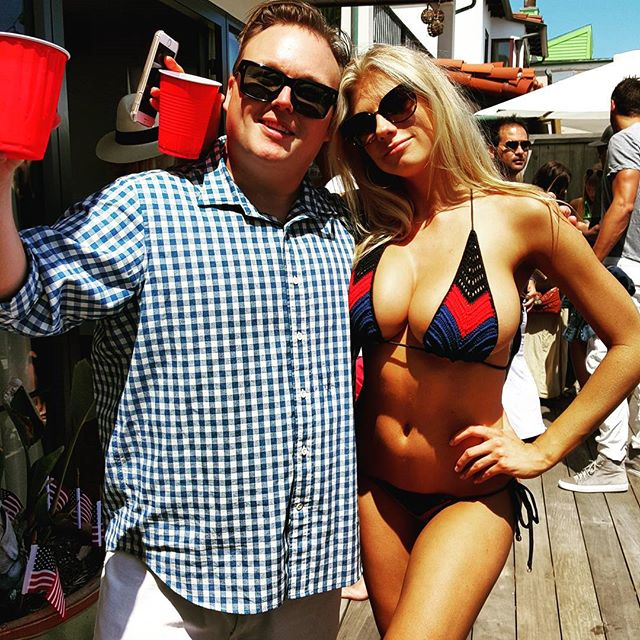 Charlotte McKinney Enjoying Her Summer In Thong Bikinis