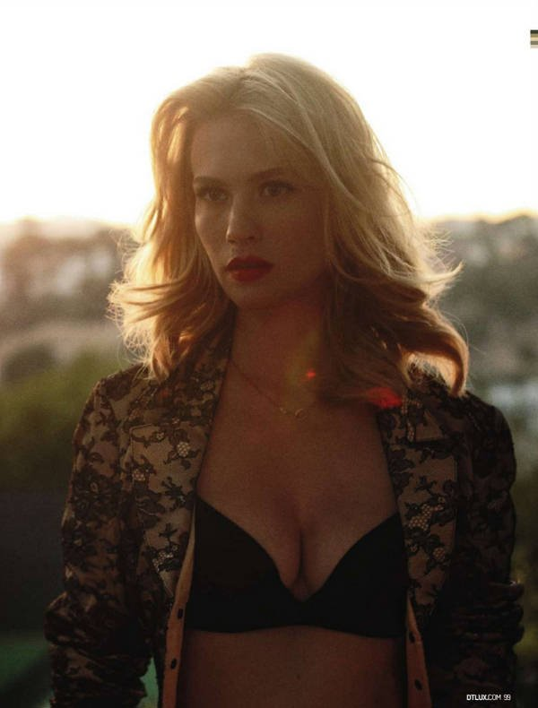 Mad Men's January Jones In Her Underwear