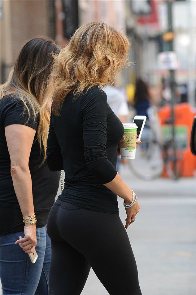 Jennifer Lopez Takes Her Booty Out In Yoga Pants