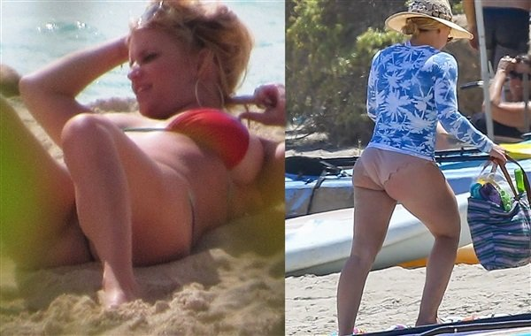 Jessica Simpson's Boobs vs Hilary Duff's Booty In A MILF Bikini Battle