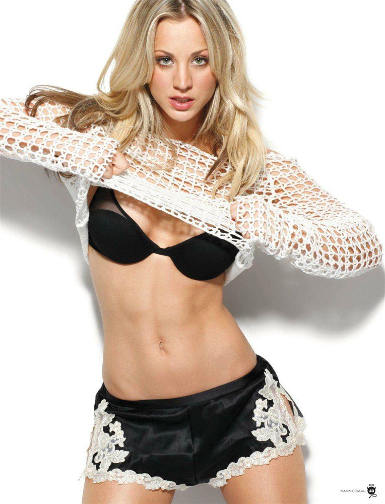 Kaley Cuoco Strips For Maxim