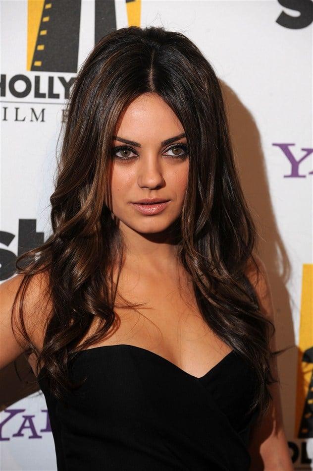 Mila Kunis Wears A Little Black Dress