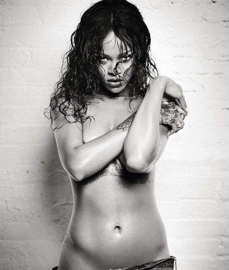 Rihanna Gets Wet And Nearly Naked In The New Issue Of Esquire