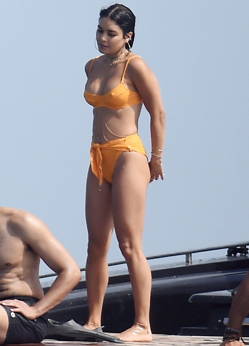 Vanessa Hudgens Bikini Boat Booty Show