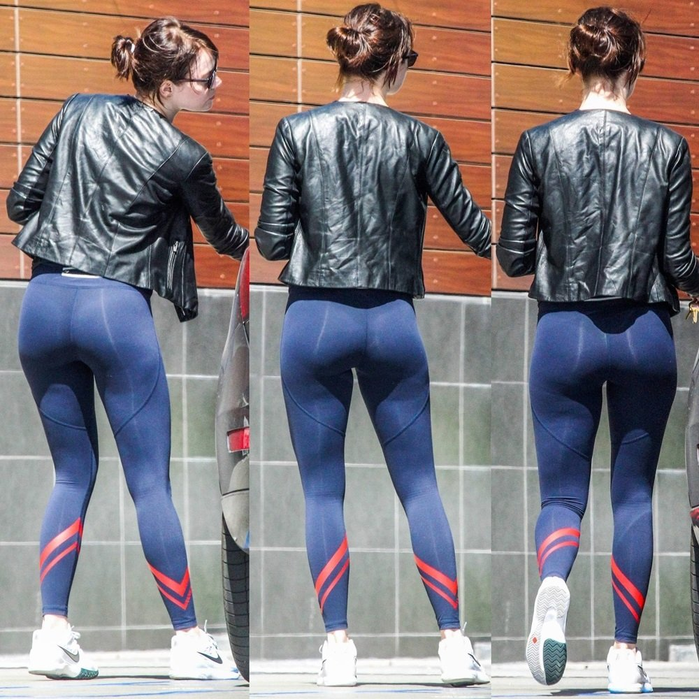 Emma Stone Teases Showing Off Her Nude Ass