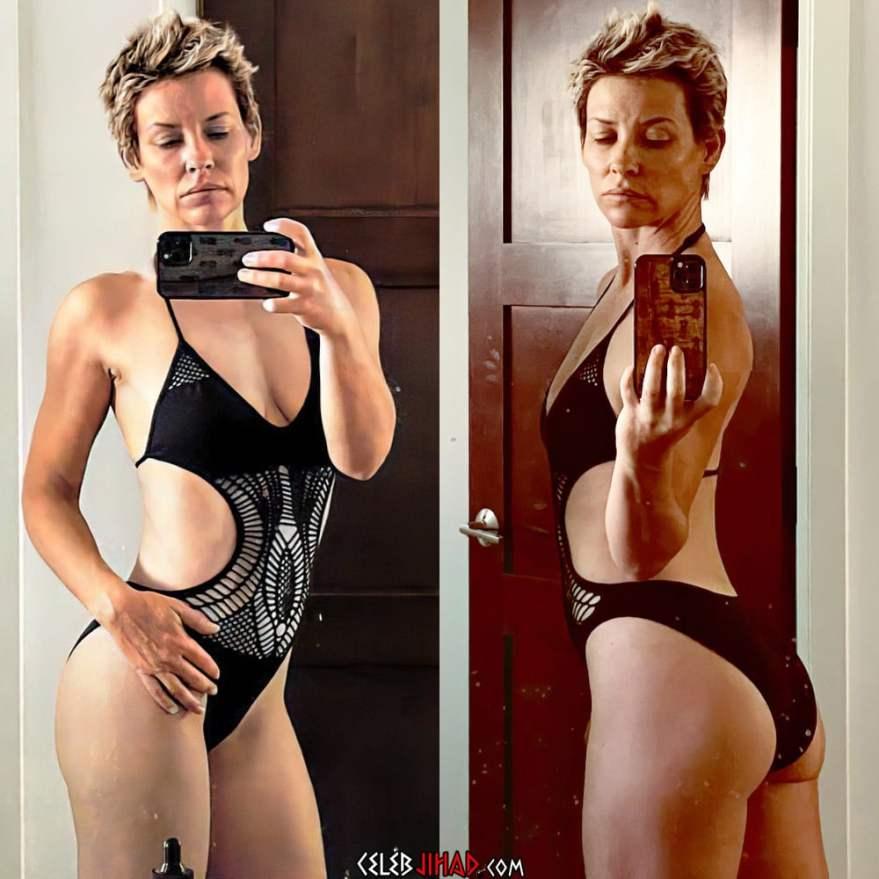 Evangeline Lilly lesbian swimsuit