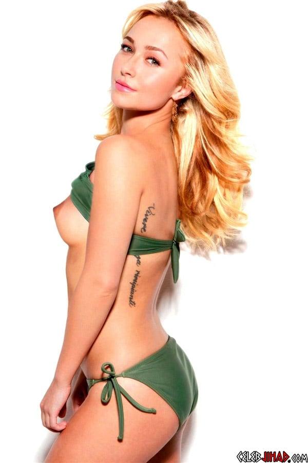 Hayden Panettiere's Breast Pops Out Of Her Bikini