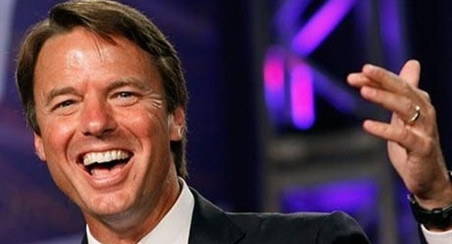 John Edwards Gets Engaged On Top Of Wife's Grave