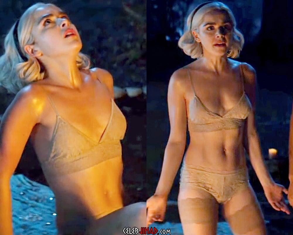 Kiernan Shipka's Ass And Tits In Her Undies