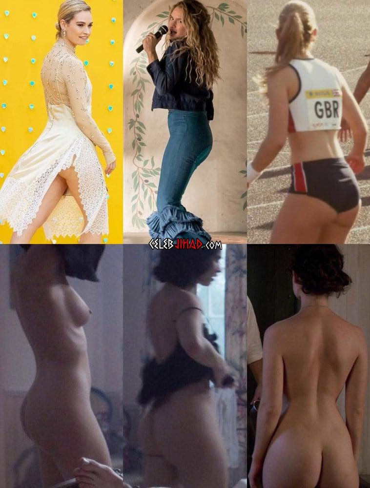 Lily James Nude Ass Retrospective