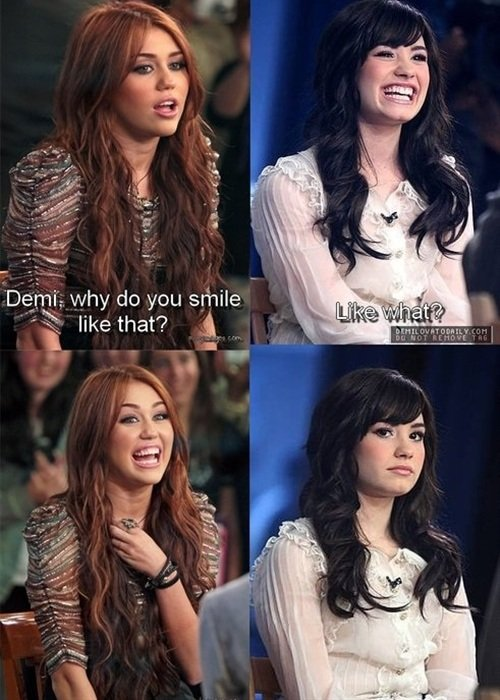 Miley Cyrus Makes Fun Of Demi Lovato's Smile