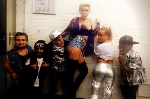 Miley Cyrus Twerks With Some Kids