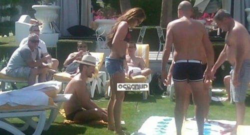 Miley Cyrus In A Bikini Playing Twister With Fat Old Men