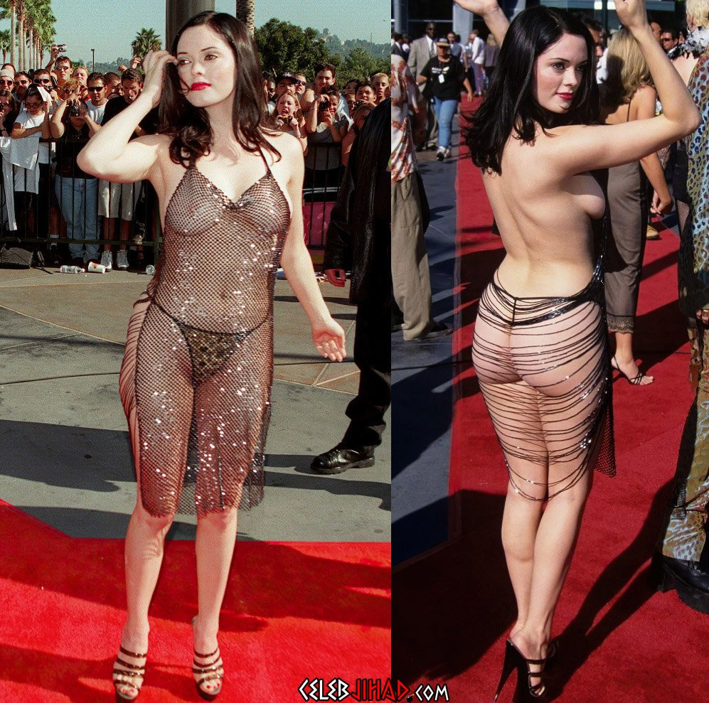 Rose McGowan Flashes Her Nude Boobs