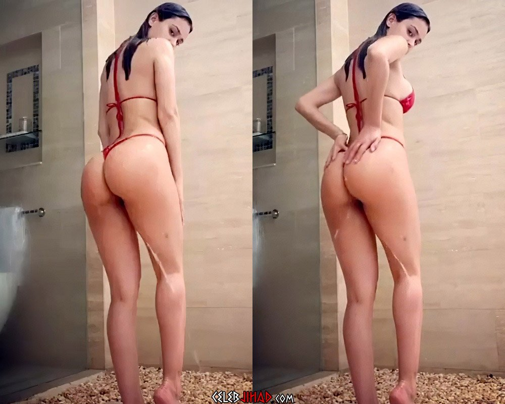 Yanet Garcia Jiggles Her Ass In A Thong