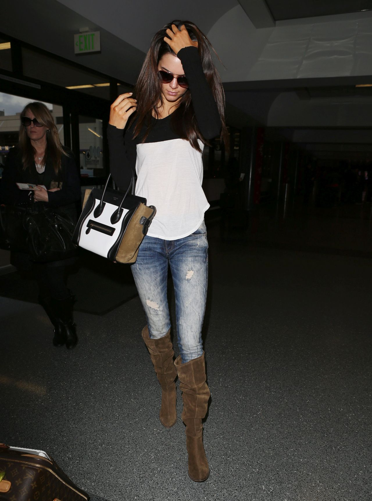 Kendall Jenner In Jeans At LAX Airport November 2013