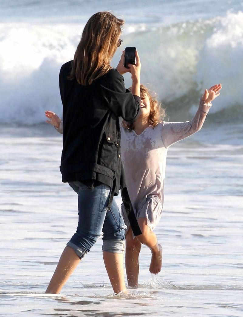 Jessica Alba At The Beach In Malibu December 2013