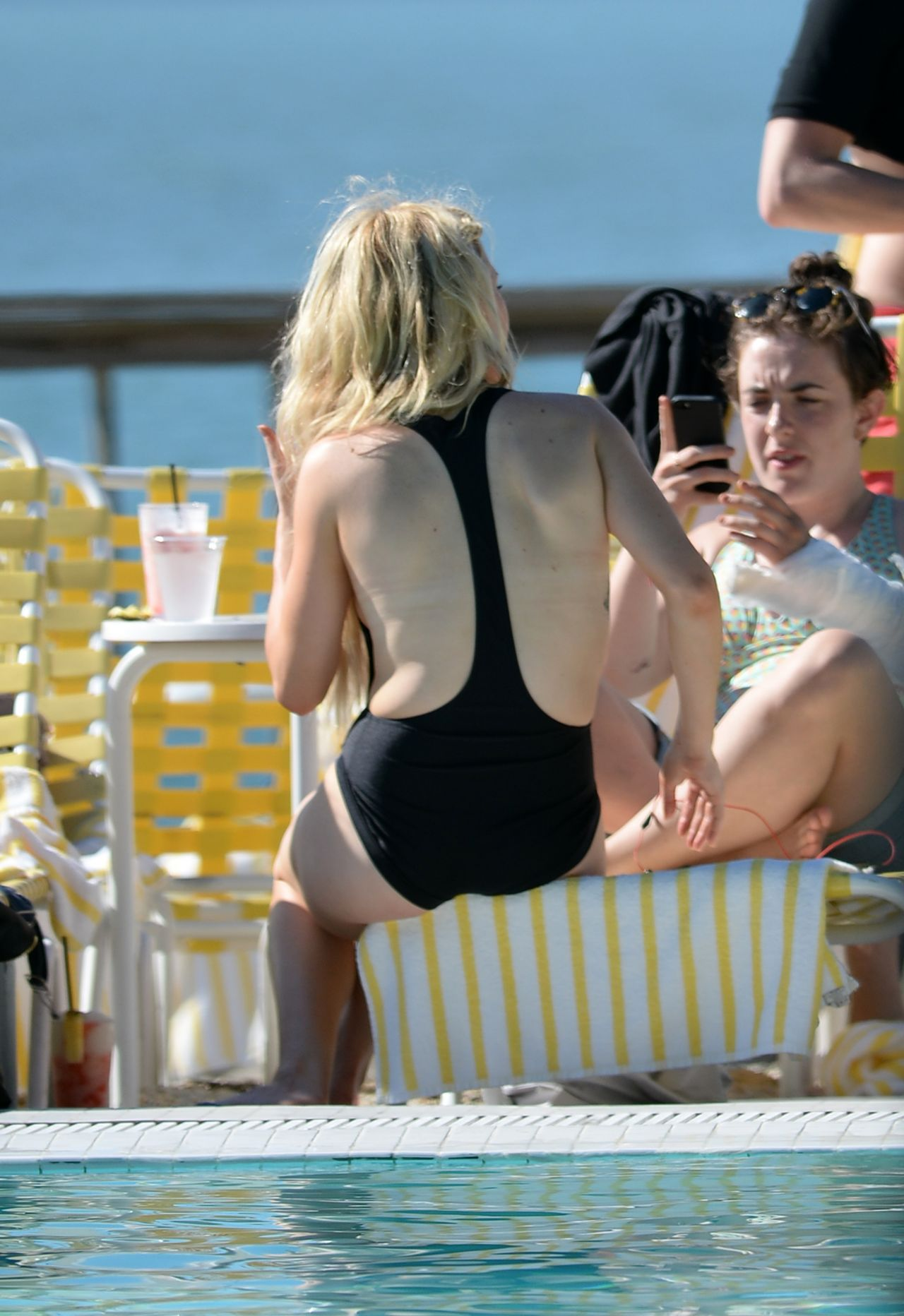 Ellie Goulding In A Bikini And Swimsuit On A Yacht In
