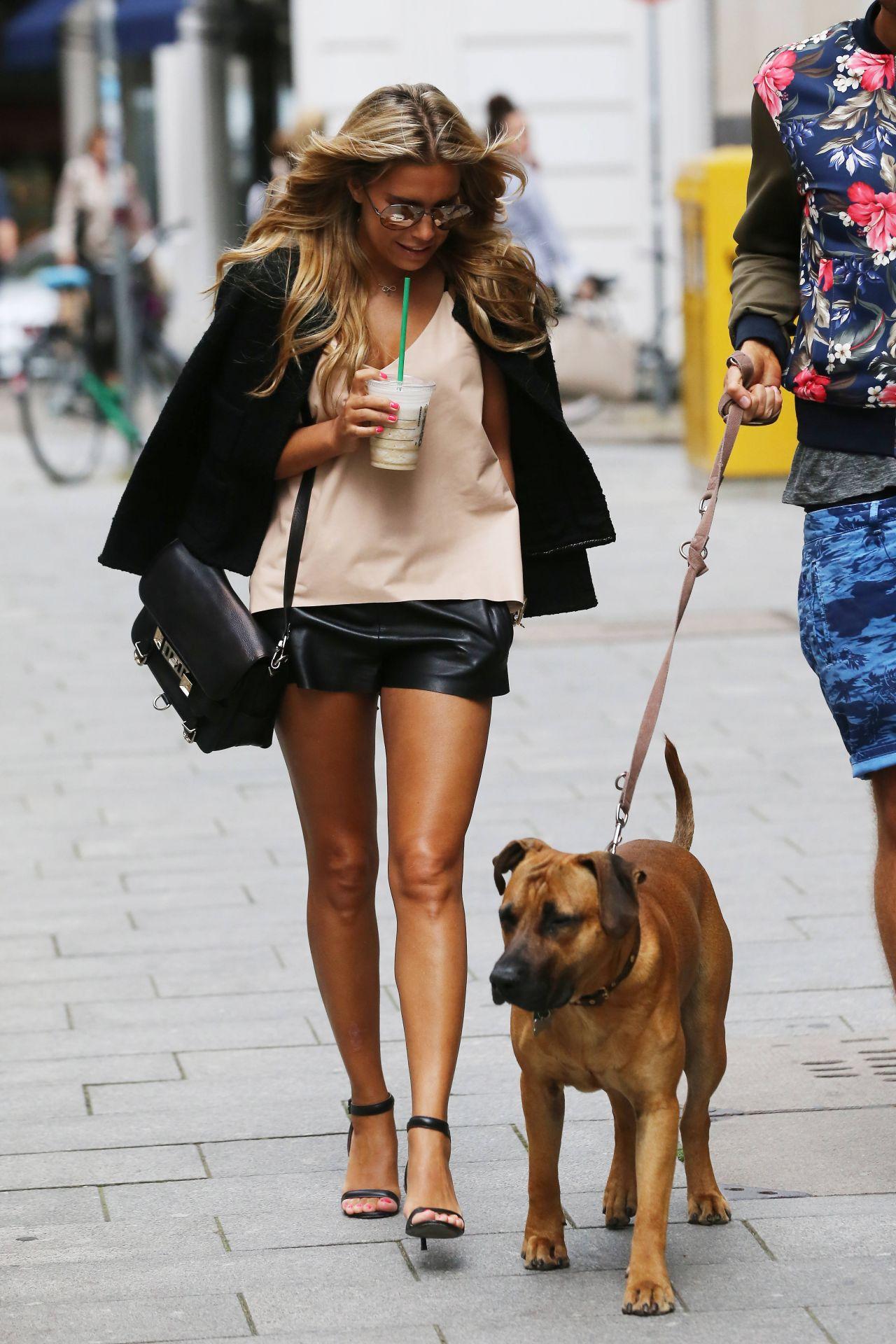 Sylvie Meis Hot Legs Shopping In Hamburg August 2014