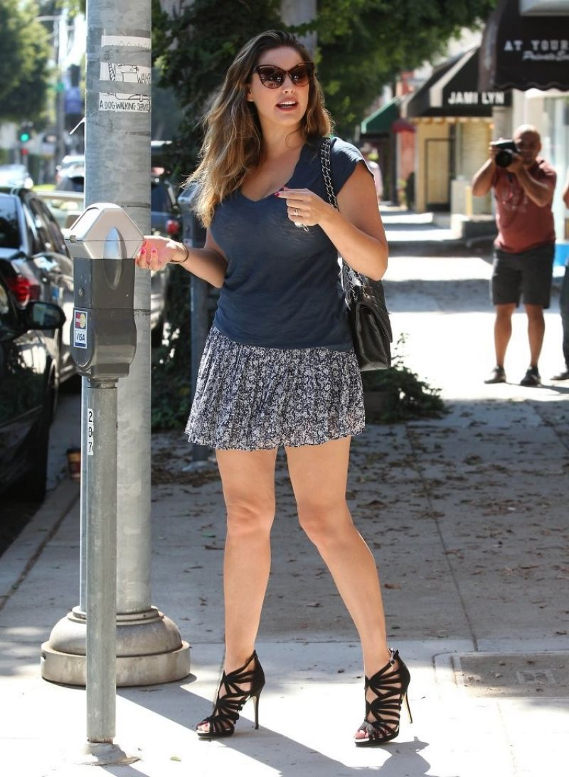 Kelly Brook Leggy In Mini Skirt Out In Beverly Hills