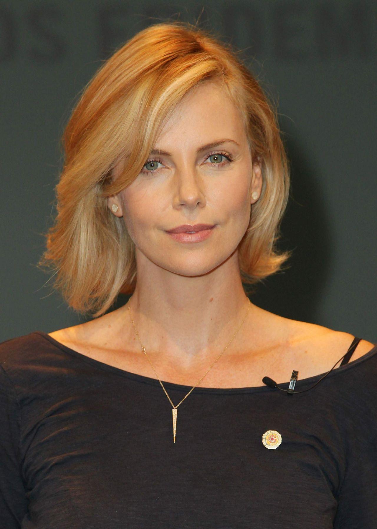 Charlize Theron Launch Of UNAIDS New Fast Track Report In LA November 2014