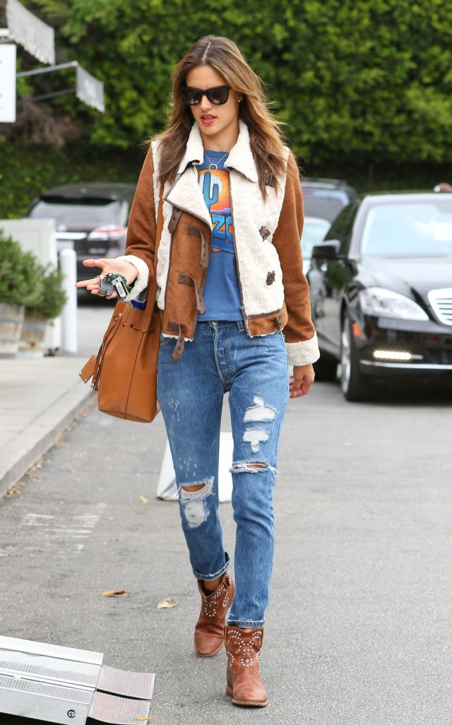 Image result for celebrity with Ripped Jeans