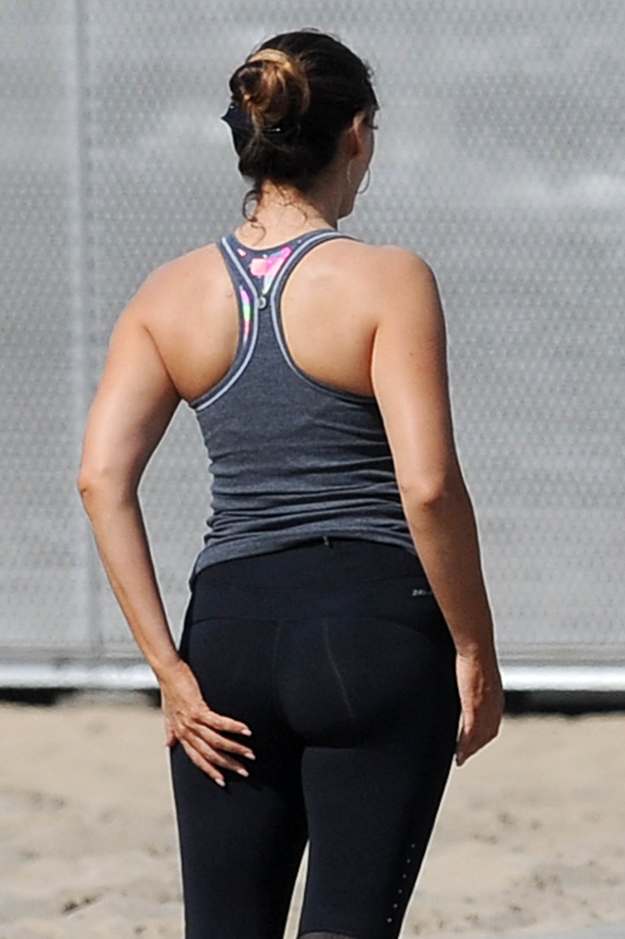 Kelly Brook Booty In Tights Workout In Los Angeles Feb