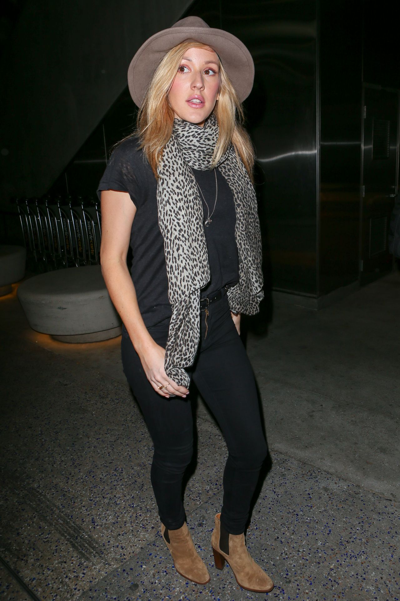 Ellie Goulding Street Style At LAX Airport In Los