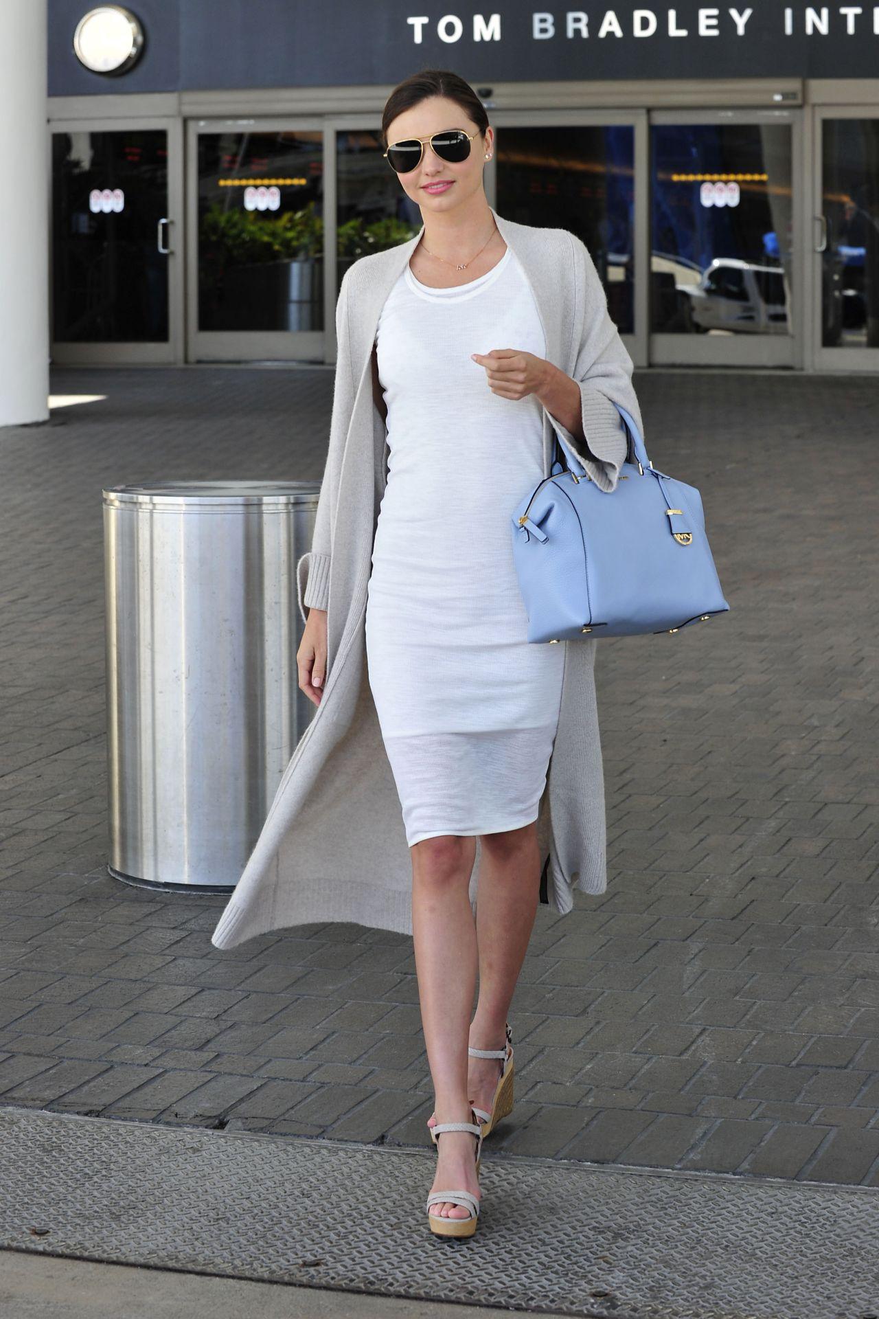 Miranda Kerr Fashion Style At LAX Airport April 2015