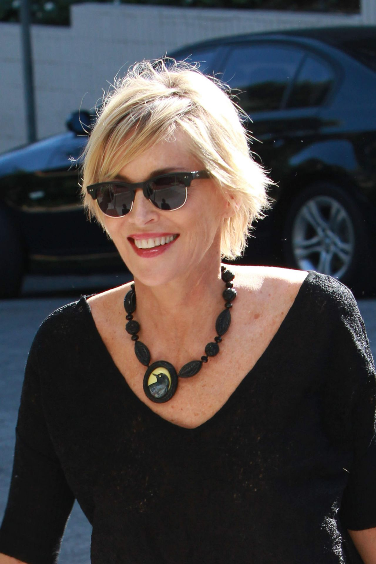 Sharon Stone Arrives At The Sunset Marquis Hotel In
