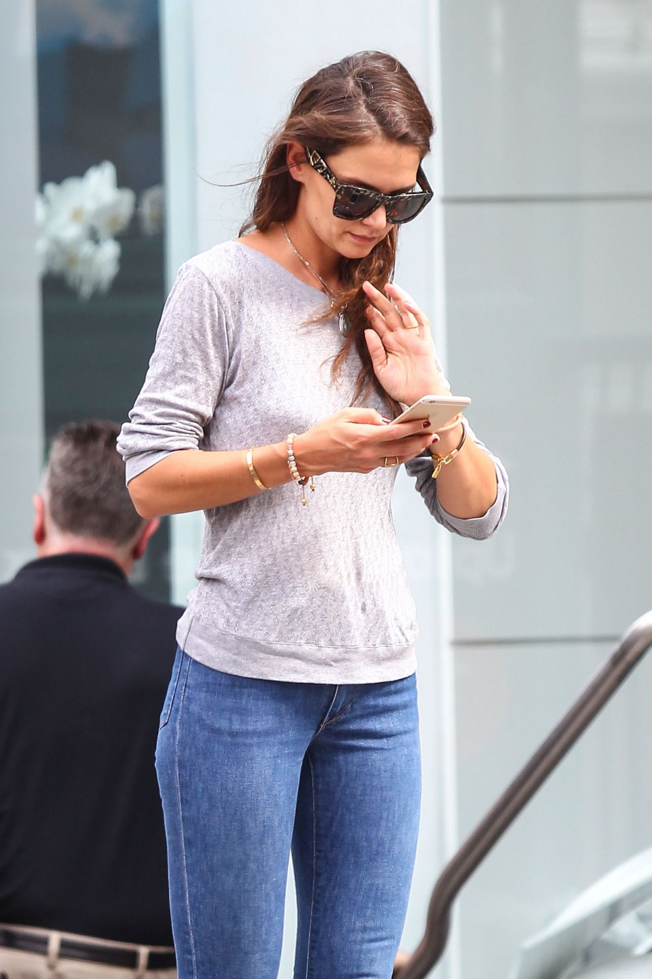 Katie Holmes Tight In Jeans Out In NYC July 2015