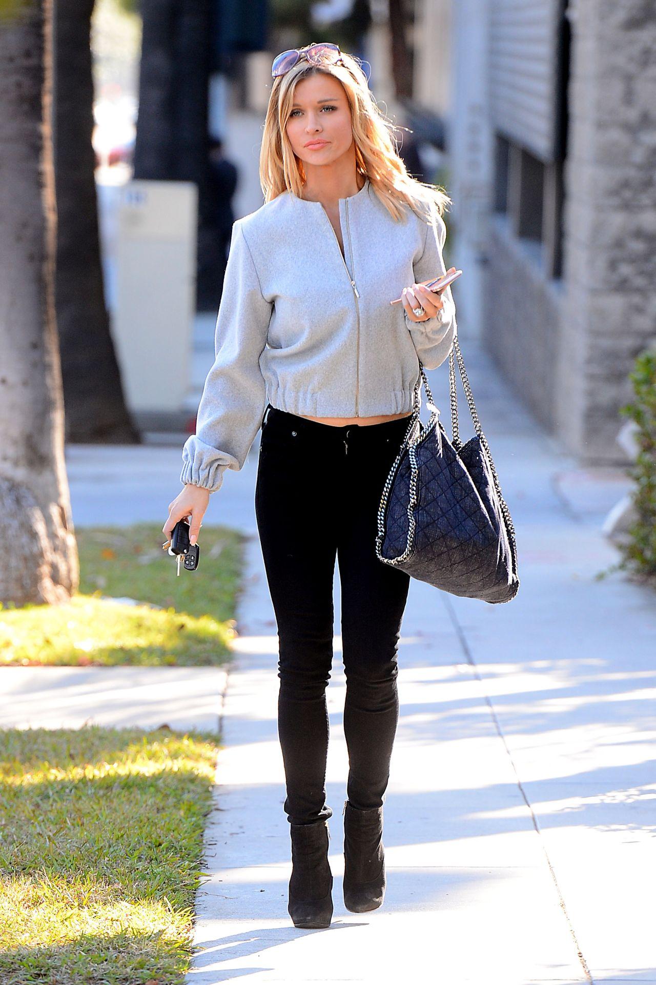 Joanna Krupa Street Style Leaving A Talent Management