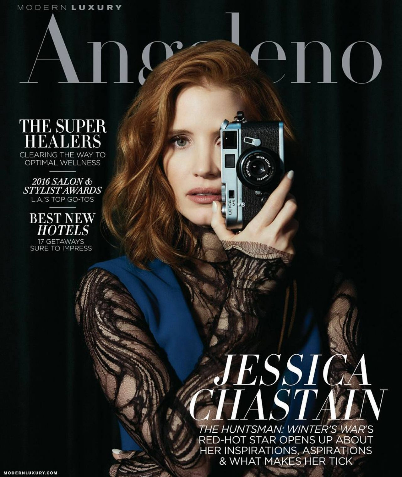 Jessica Chastain Angeleno Magazine May 2016 Cover And Photos