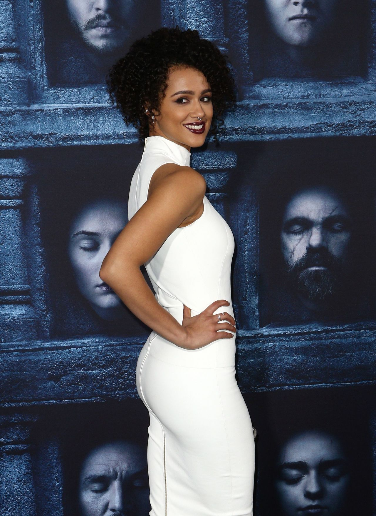 Nathalie Emmanuel Game Of Thrones Season 6 Premiere In