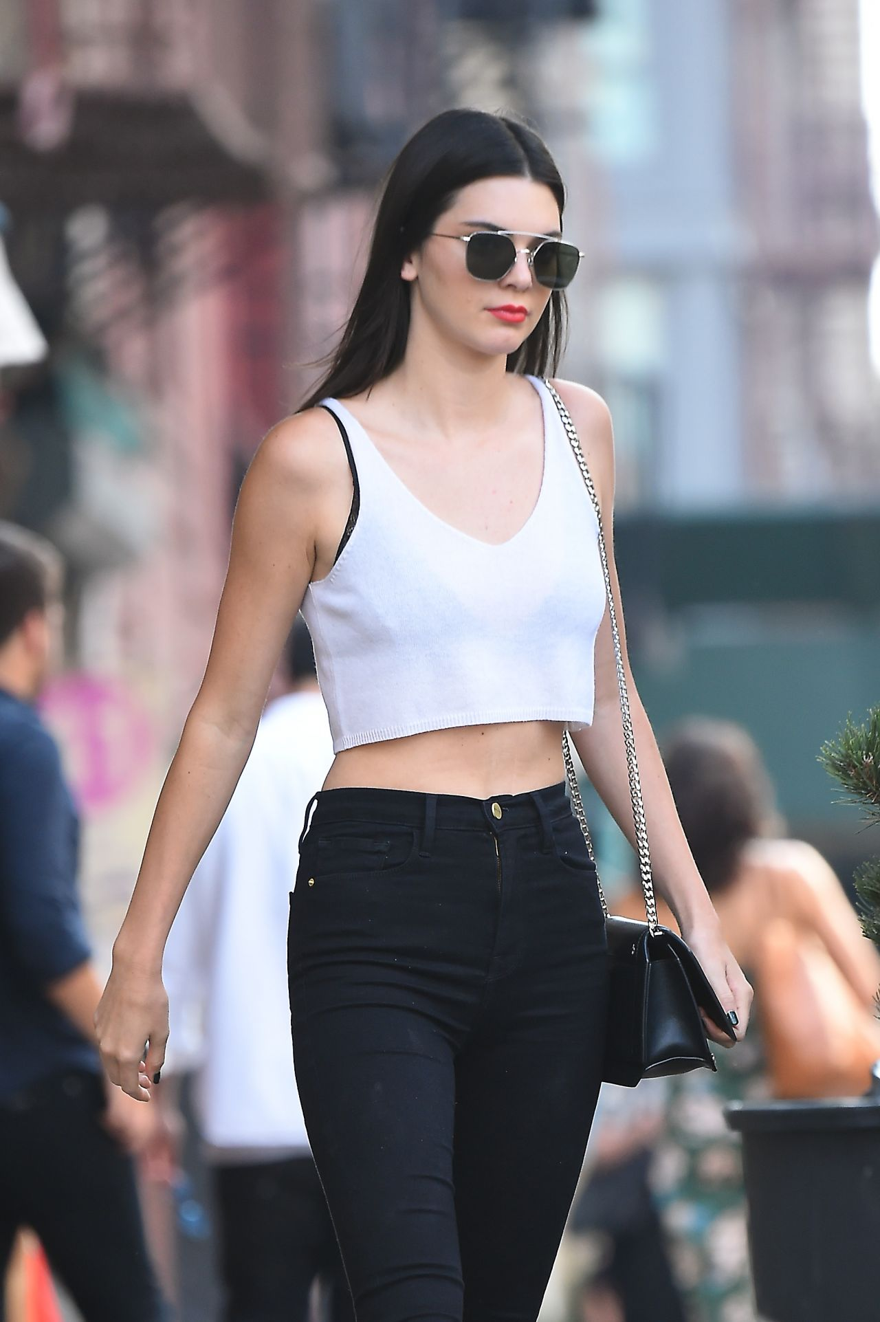 Kendall Jenner Chic Outfit NYC 7222016