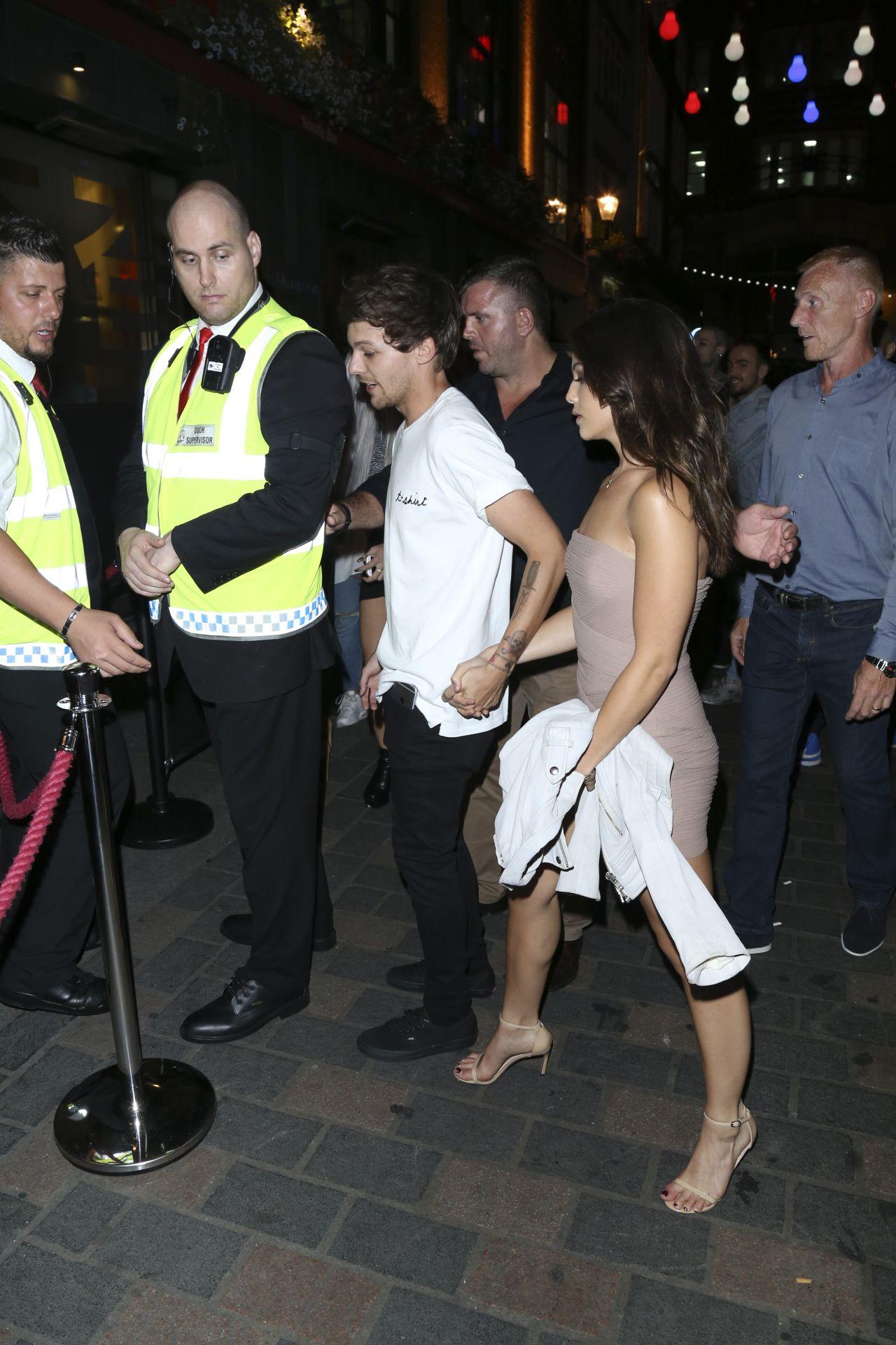 Danielle Campbell Amp Louis Tomlinson Leaving Cirque Le Soir In London 8242016
